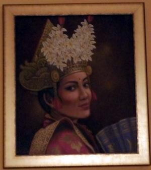 Balinéz táncoslány festmény