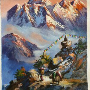 nepáli festmény